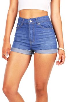Vivid vintage high waist shorts cutesy clothes in 2019 High Wasted Jean Shorts, Vintage High Waisted Shorts, Vintage Shorts, Denim Levis, Levis 511, Denim Shorts, Pink Shorts, Cream Shorts, Mode Outfits
