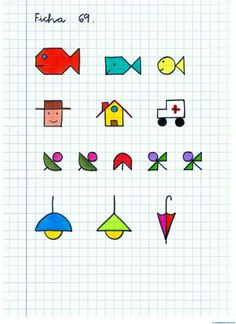 Dibujos serie-9 Graph Paper Drawings, Graph Paper Art, Easy Drawings, Art Minecraft, Skins Minecraft, Primary School Art, Art School, Drawing For Kids, Art For Kids