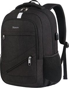 5eb0ca9868c High School Backpack Laptop Backpack RFID College Bag for Women Men Anti  theft Travel Business Laptop Bag w/USB Charging Port Mancro Slim Water  Resistant ...