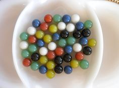 Vintage Glass Marbles, opaque.  $8.00 - Click for listing