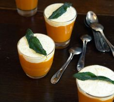 Make the butternut crème: peel the squash, cut it in half and remove the seeds, then dice it. Heat the oil in a heavy saucepan over high heat. Fry the squash briefly, then add the tomato paste and stir well, sauteing until it exudes a sweet aroma. Douse with the wine, stir for a few seconds, then add the broth. Add the sage sprigs and lower the heat to low just as the broth begins to boil. Let simmer for about 35 minutes with the lid askew. Make the goat cheese cream: blend the cheeses in…
