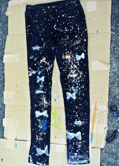 DIY Ripped Jeans  : DIY Ripped Galaxy Jeans DIY Clothes DIY Refashion