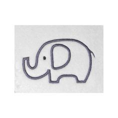 baby elephant outline - Google Search