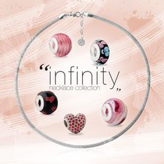 """""""Infinity Collection"""" @byoujewels beads and jewels. www.byoujewels.com #byou #beads #charms #sterlingsilver #necklace #muranoglass #crystal"""