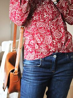 marant stacy blouse, topshop baxter jeans, massimo dutti bag.