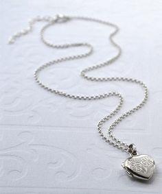 Look what I found on #zulily! Sterling Silver Sweet Heart Locket #zulilyfinds