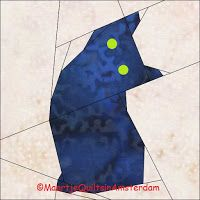 Maartje Quilts in Amsterdam: free cat quilting pattern