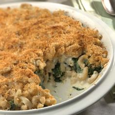 Low Calorie Comfort Foods -- Updated Mac & Cheese: Our mac-and-cheese makeover wins raves of approval, having all the comfort and great taste of its predecessors with a substantially more healthful profile. It uses whole-wheat pasta and includes a colorful layer of spinach. It's also a winner for make-ahead convenience.