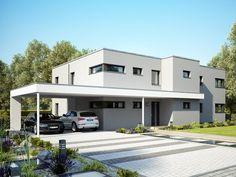 Hausbau modern satteldach  Bildergebnis für haus mit satteldach modern | h+ | Pinterest ...