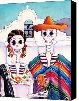 Mexican Gothic Painting by Candy Mayer - Mexican Gothic Fine Art Prints and Posters for Sale