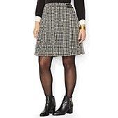 Lauren Ralph Lauren Plus Houndstooth Mini Skirt