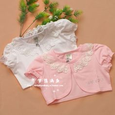Stella free shipping Child baby cape short-sleeve baby lace shrug girls clothing baby cloak summer all-match sunscreen cardigan $28.00