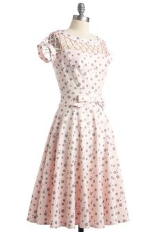 With Only a Wink Dress in Rose, #ModCloth this will look great next to Jeff's grey suit!