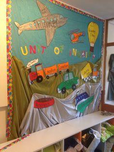 Transportation PYP unit of inquiry board for Preschool
