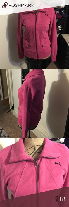 Women's Pumas jacket Size medium, pink and black jacket Puma Jackets & Coats