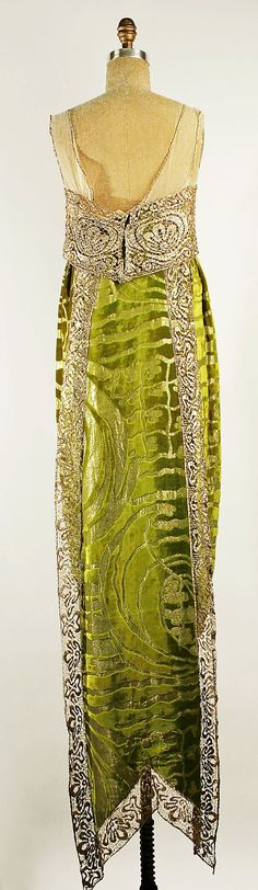 Dress, Evening Callot Soeurs (French, active 1895–1937) Date: 1919 Culture: French Medium: silk, metallic Dimensions: Length at CB: 40 in. (101.6 cm)