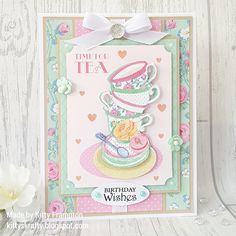 Made using Dovecraft Sweet Moments Collection. Christmas Cards 2018, Tiddly Inks, Mo Manning, Craftwork Cards, Hobby House, Crafts Beautiful, 8th Of March, Handmade Birthday Cards, Card Making Inspiration