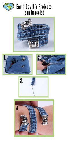 DIY : Recycler le jean en bracelet