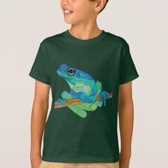 #Blue Frog T-Shirt - #cool #kids #shirts #child #children #toddler #toddlers #kidsfashion