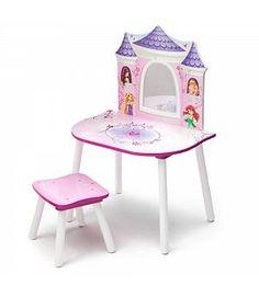 Tocador infatil de madera Princesas Disney. 12TF86596PS