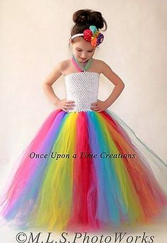 Candyland Payaso Rainbow Niñas Tutu Vestido - 12m 2t 3t 4t 5t Halloween Disfraz