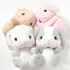 Order the full set and receive a randomly selected mini plushie as a free bonus!Please note that the series and version of the free bonus mini plushies will be selected at random. The Pote Usa Loppy cuties ate a few magic carrots and got extra big! These lovely plushies are even more packed with adorable squishiness as they come in a great big Jumbo size (approx. 10.6inches). All your favorite cha... #plushie