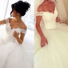 High quality wedding dress,tulle wedding dress,ball gown wedding dress,off the shoulder wedding dress w26