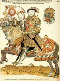 Depiction of Henry VIII. on horseback