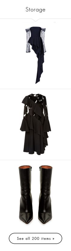 """""""Storage"""" by amberelb ❤ liked on Polyvore featuring tops, black, off shoulder peplum top, off the shoulder peplum top, off the shoulder tops, lace sleeve top, peplum tops, dresses, see-through dresses and sheer cutout dress"""