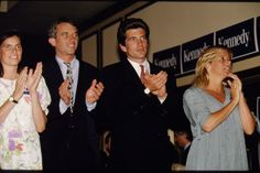 Mary Richardson Kennedy with her husband Bobby Kennedy Jr., John Kennedy Jr. and Kara Kennedy Allen