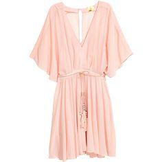 Short Chiffon Dress $59.99 ($60) ❤ liked on Polyvore featuring dresses, v neck chiffon dress, short dresses, button dress, chiffon mini dress and zipper dress