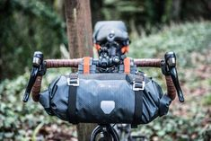 In use (Slate) Biker, Bike Bag, Touring Bike, Bicycle Accessories, Cycling Gear, Velcro Straps, Cool Bikes, Outdoor Gear, Bicycles