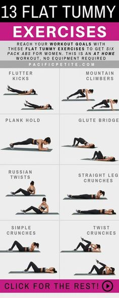 13 Amazing Flat Tummy Exercises
