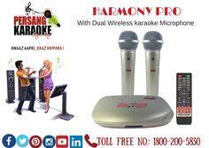 Harmony Pro (With Dual Wireless karaoke Microphone)  Lyrics in Hindi & English for Hindi Songs,16GB inbuilt Memory,2.4 GHz Microphone,E-Manual,Total 13 Languages & Can Attach Extra Wired Microphone #PersangKaraoke #KaraokeTablet #Karaokeindia #Karaokemachine #BestKaraoke #TotalSongBankof6061 which comprises of (#Hindi, #English, #Konkani, #Gujarati, #Bhojpuri, #Bengali, #Kannada, #Malayalam, #Marathi, #Punjabi, #Telugu, #Tamil, #Nepali).