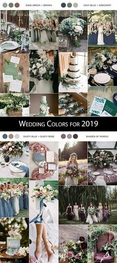 Top 5 Wedding Trends for 2019 You Need to Know wedding color trends for 2019 - Wedding Wishes, Our Wedding, Dream Wedding, Garden Wedding, Wedding Ceremony, Wedding Color Schemes, Wedding Colors, Cute Wedding Ideas, Wedding Inspiration