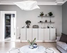 Nordhemsgatan 60 . . .     - Interior Living Room Ideas 2019  #ideas #interior #living #diys #crafts #ideas Living Room Shelves, Decor, Home Diy, Living Room Ideas 2019, Living Room Interior, Interior, Diy Home Decor, Minimalist Interior, Room