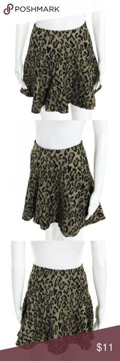 Free People Leopard Print Skater Skirt EXCELLENT Excellent condition woven leopard print skirt from Free People! Free People Skirts Mini