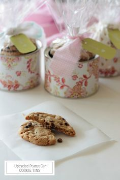 homework: creative inspiration for home and life: UPCYCLING: Peanut Cans to Cookie Tins