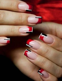 Image result for red and black nails