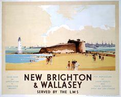 New Brighton & Wallasey, Vintage UK Railway Poster
