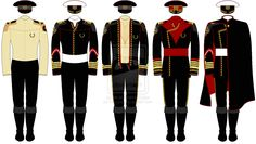A line-drawing of a selection of officer's uniforms in the United EarthNavy, the. A line-drawing of a selection of officer's uniforms in the United EarthNavy, the peacekeeping space force of the United Earth Alliance. Marines Uniform, Army Uniform, Navy Uniforms, Military Uniforms, Star Trek Uniforms, Military Ranks, Uniform Design, Military Fashion, Military Clothing