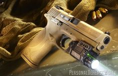 I like this for the light attached with laser.Smith & Wesson M VTAC: High-Capacity infused with Viking Tactics for one unstoppable fighter! Tactical Life, Tactical Gear, Rifles, M&p 9mm, Revolvers, M&p Shield, Smith N Wesson, Military Guns, Personal Defense