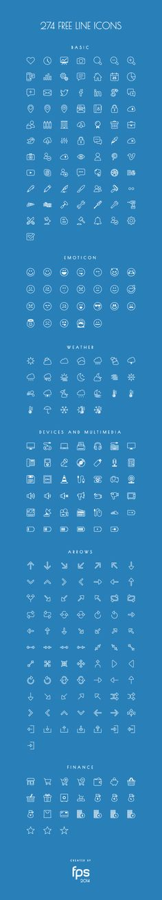 274 Vector Line Icons by fps web agency http://blog.fps.hu/post/101922170711/274-vector-line-icons-for-free