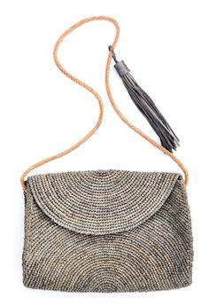 Leah Straw Shoulder Bag