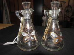Cute Set of Vintage 1950s Georges Briard Oil and Vinegar Cruets