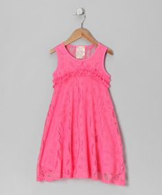 Take a look at this Blush Crochet Dress - Toddler & Girls by Pink Vanilla on #zulily today!