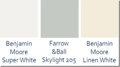 Gorgeous neutral paint colors recommended by Sara Gilbane.