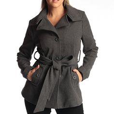 Alpine Swiss Bella Women's Belted Blazer Button Up Wool Coat Funnel Neck Jacket Gray Jacket, Vest Jacket, Vest For Sale, Stylish Coat, Coat Sale, L'oréal Paris, Winter Coats Women, Funnel Neck, Blazer Buttons