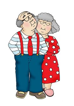 Free Dearie Dolls Digi Stamps: Grammy Couple No Kisses Vieux Couples, Comic Manga, Art Impressions Stamps, Growing Old Together, Old Folks, Valentines Art, Card Sentiments, Donna Dewberry, Grandma And Grandpa