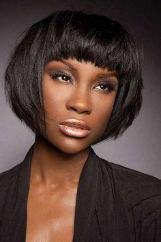 25 Bob Haircuts for Black Women | http://www.short-hairstyles.co/25-bob-haircuts-for-black-women.html